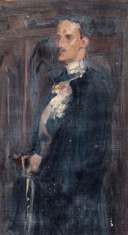 Albert Edelfelt - Skecth for the Portrait of Prince Carl