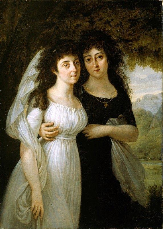 Antoine-Jean Gros - Portrait of the Maistre Sisters