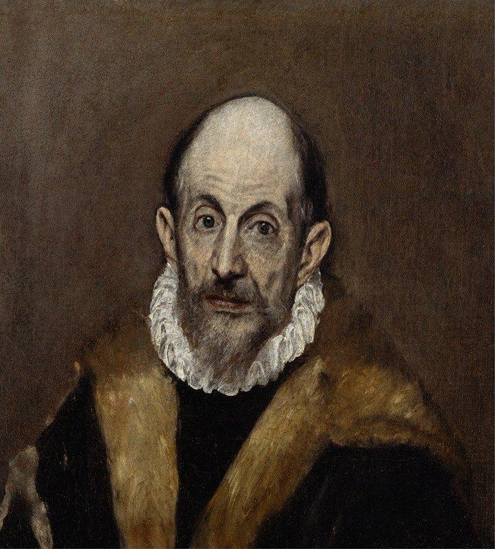 El Greco (Domenikos Theotokopoulos) - Portrait of an Old Man