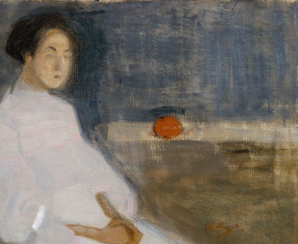 Helene Schjerfbeck - Girl with Orange, The Baker's Daughter