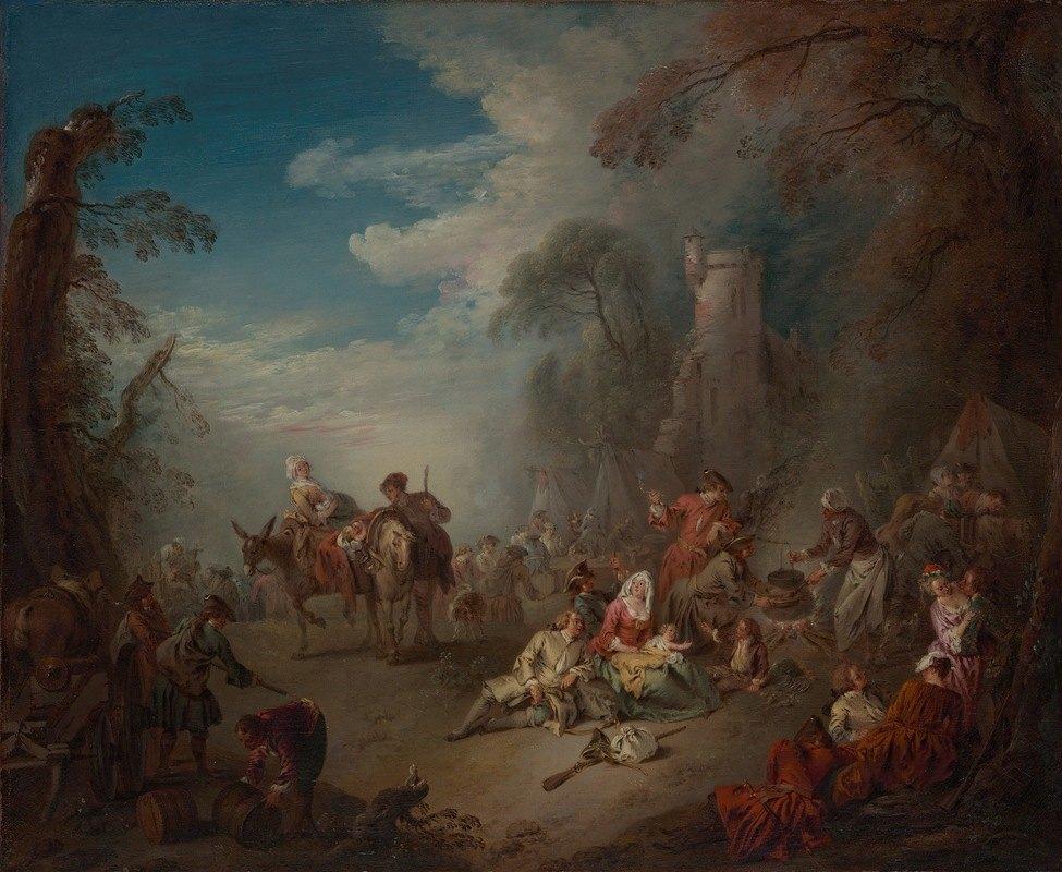 Jean-Baptiste Pater - Troops at Rest