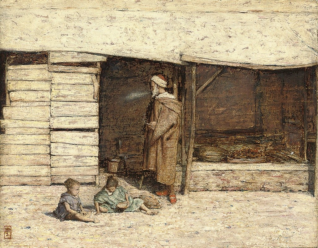Mortimer Menpes - A Stall at Tangiers