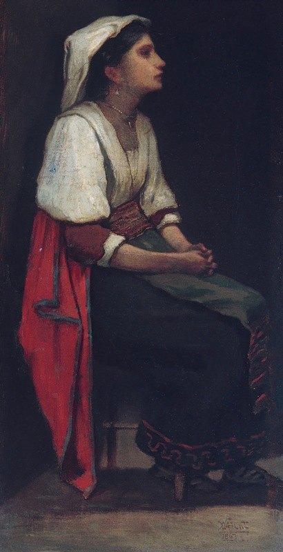 William Morris Hunt - Italian Girl