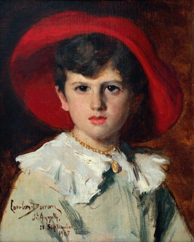 Carolus-Duran - Child in a Red Hat (Michel Feydeau, son of Georges)