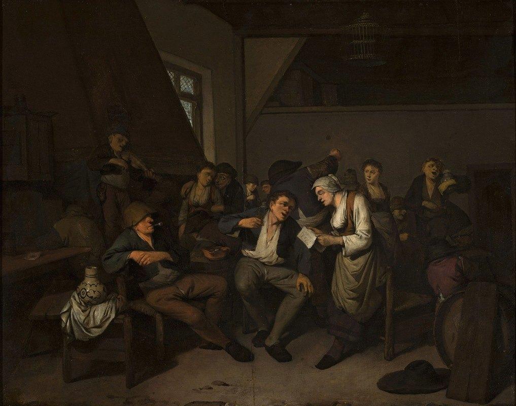 Cornelis Pietersz. Bega - Merry-making in a tavern