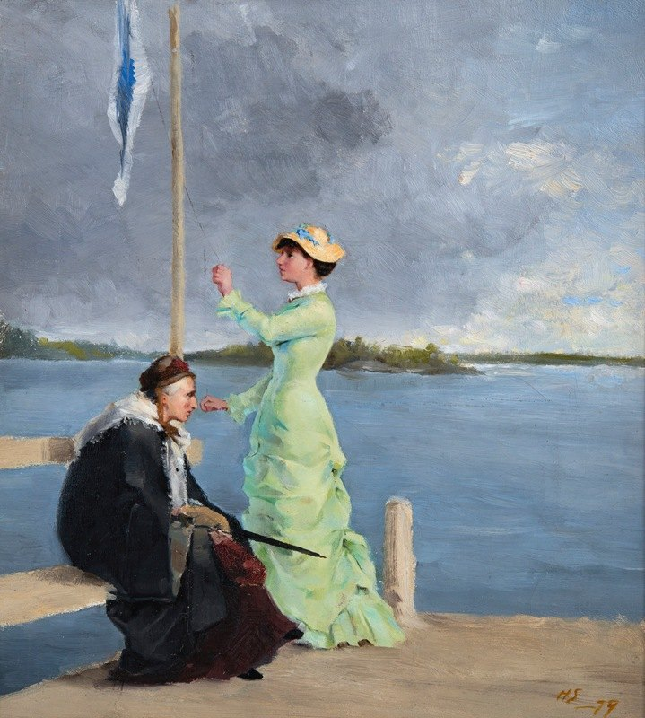 Helene Schjerfbeck - On The Jetty