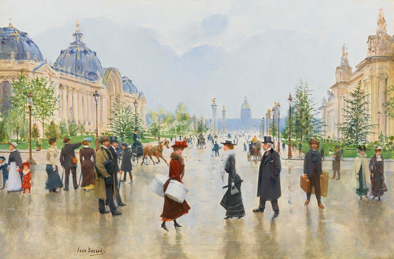 Jean Béraud - Entre Le Petit Et Le Grand Palais, Avenue Alexandre-III