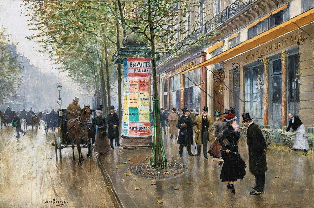 Jean Béraud - Les Grands Boulevards (Café Américain)