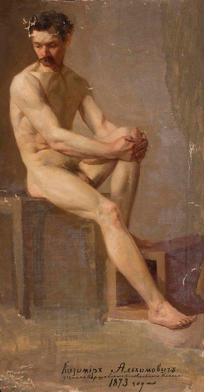 Kazimierz Alchimowicz - Nude of a seated man