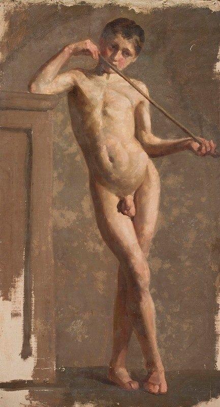 Kazimierz Alchimowicz - Nude of a standing boy