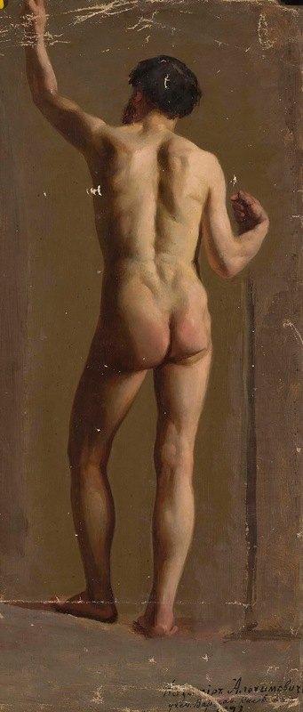 Kazimierz Alchimowicz - Nude of a standing man, back view