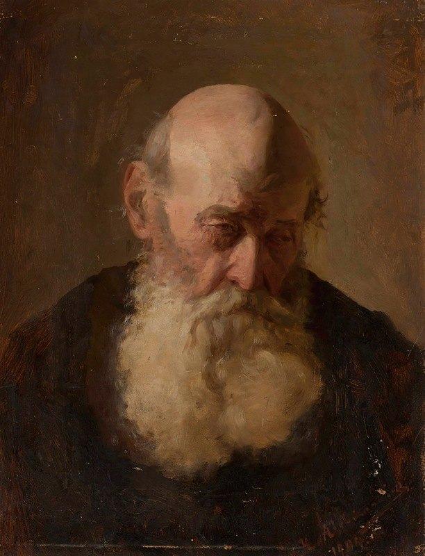 Kazimierz Alchimowicz - Study of an old man's head