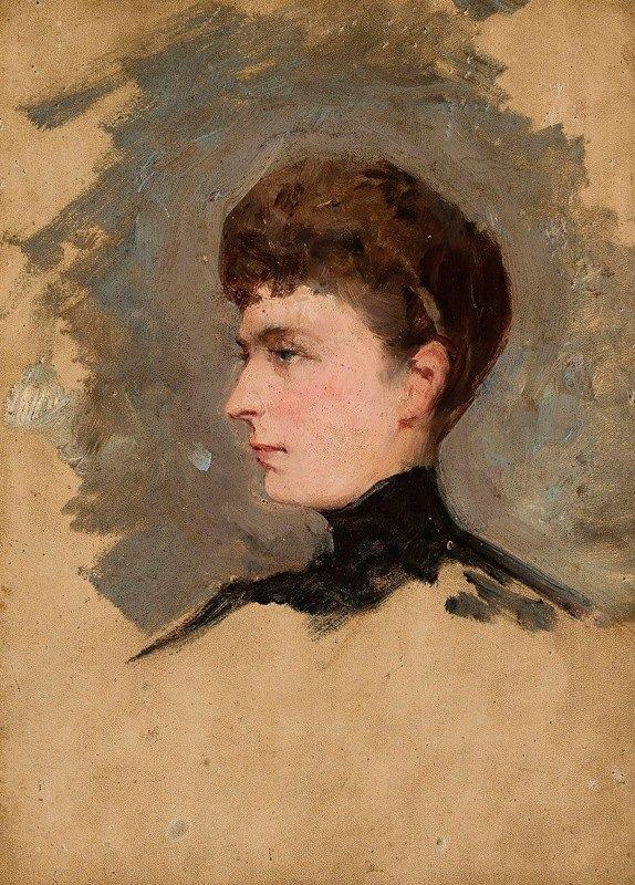 Tadeusz Ajdukiewicz - Portrait of a lady, sketch