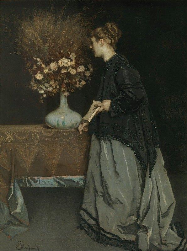 Alfred Stevens - Autumn Flowers