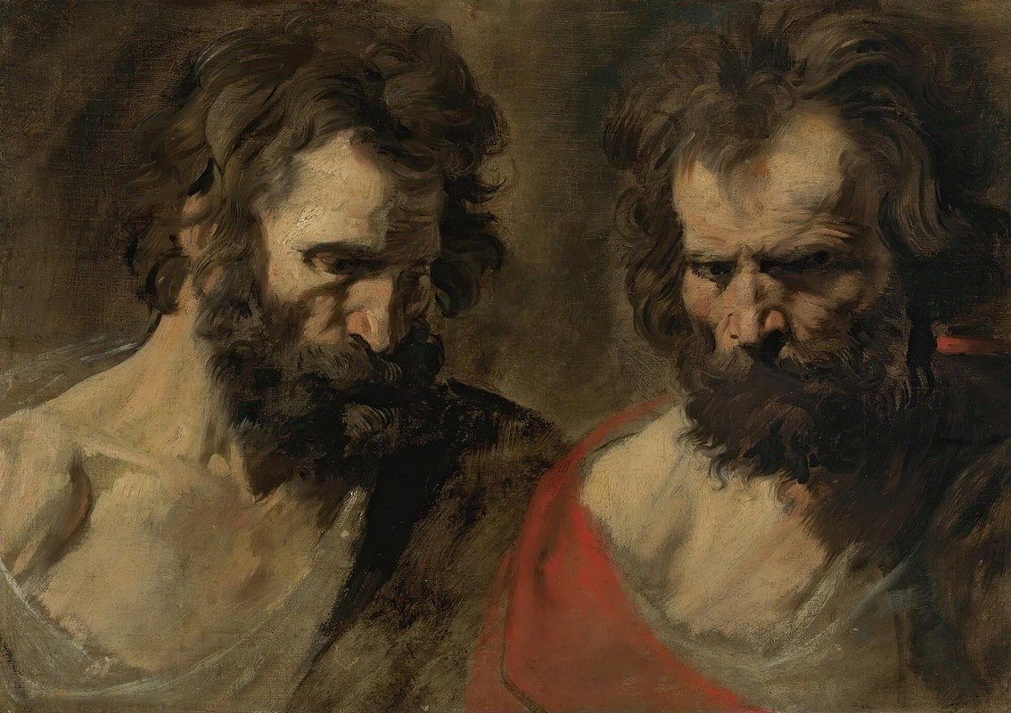 Anthony van Dyck - Two Studies Of A Bearded Man