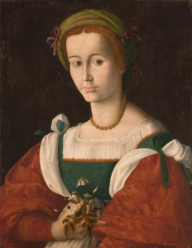 Bacchiacca - A Lady with a Nosegay