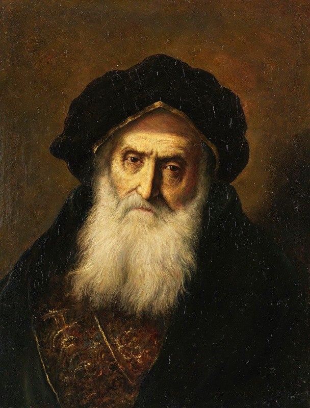 Christian Wilhelm Ernst Dietrich - Portrait of an old Jew
