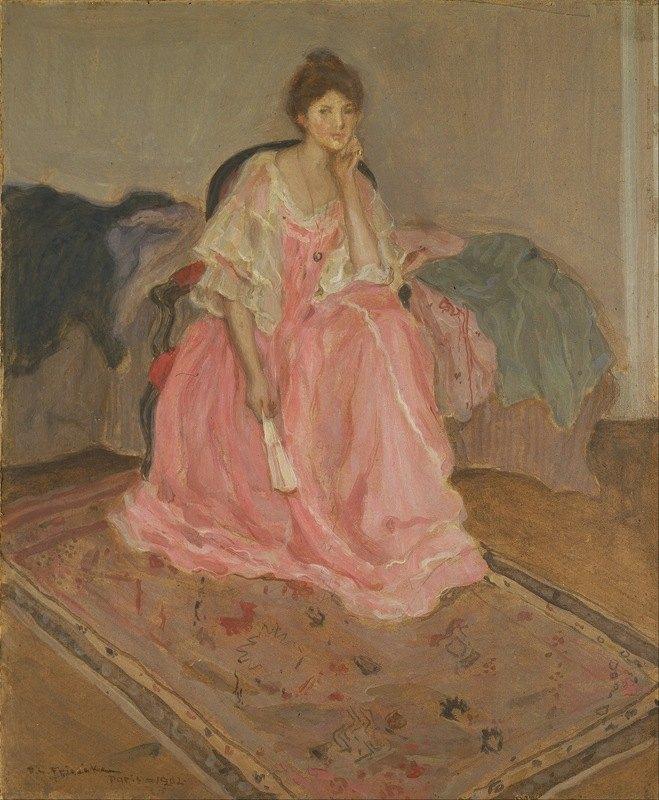 Frederick Carl Frieseke - Lady in Pink