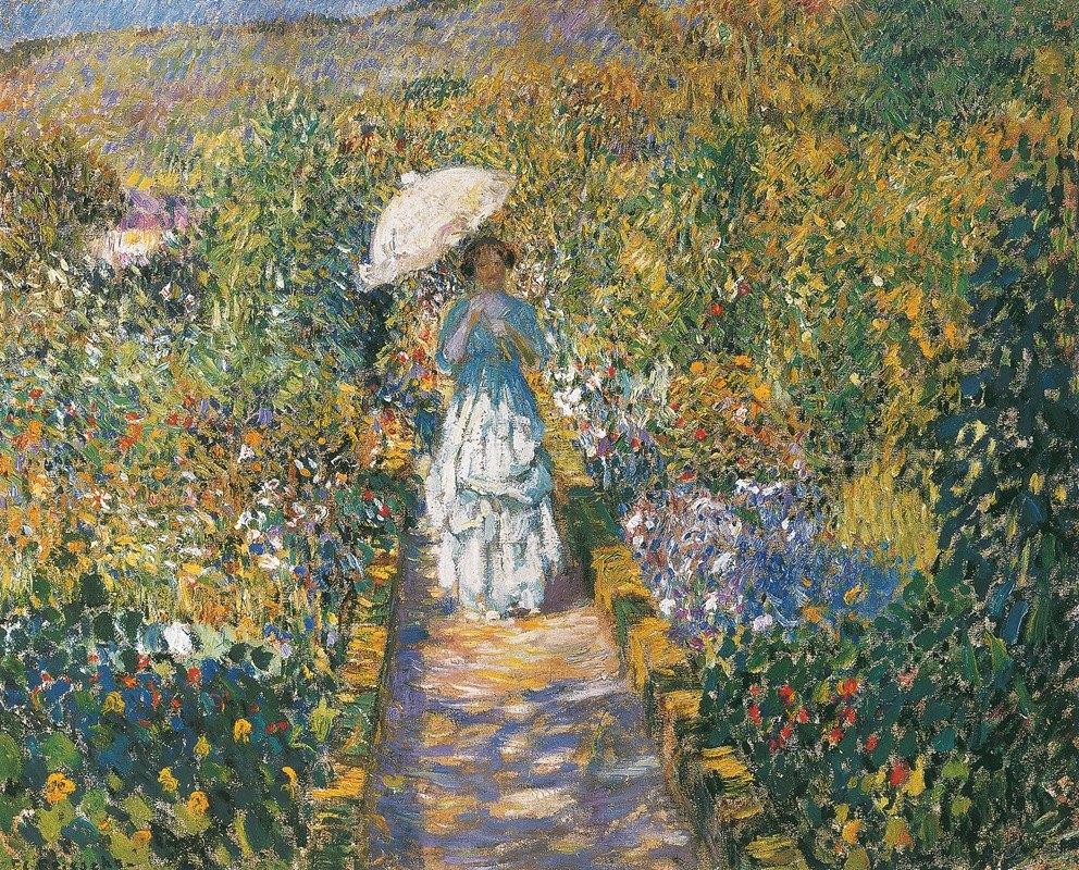 Frederick Carl Frieseke - The Garden path