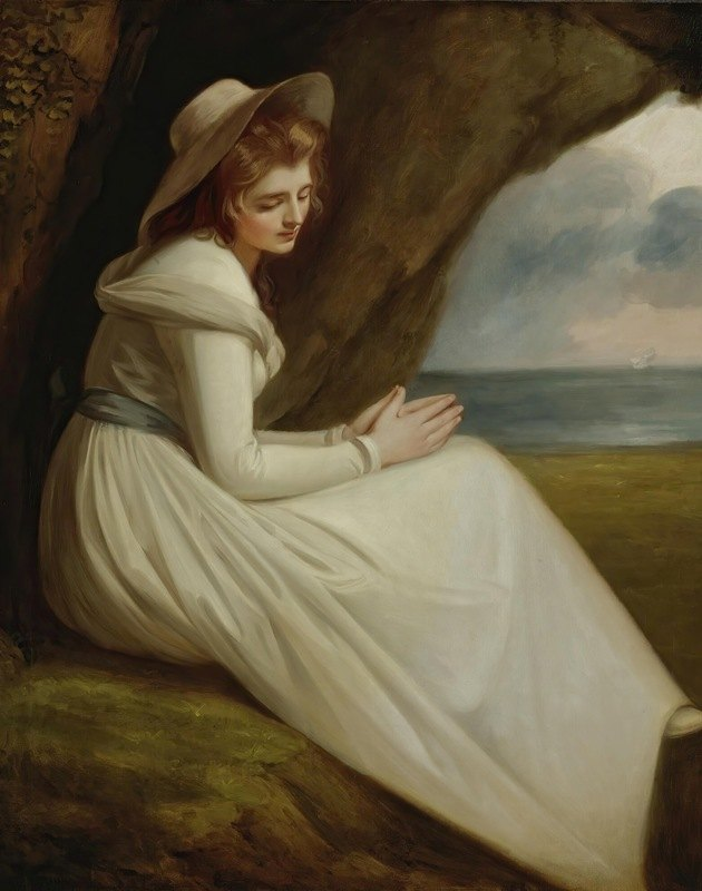 George Romney - Emma Hart,Later Lady Hamilton,As 'absence'