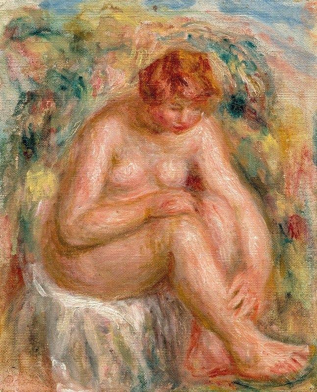 Pierre-Auguste Renoir - Femme nue assise vue de trois-quarts (Baigneuse)