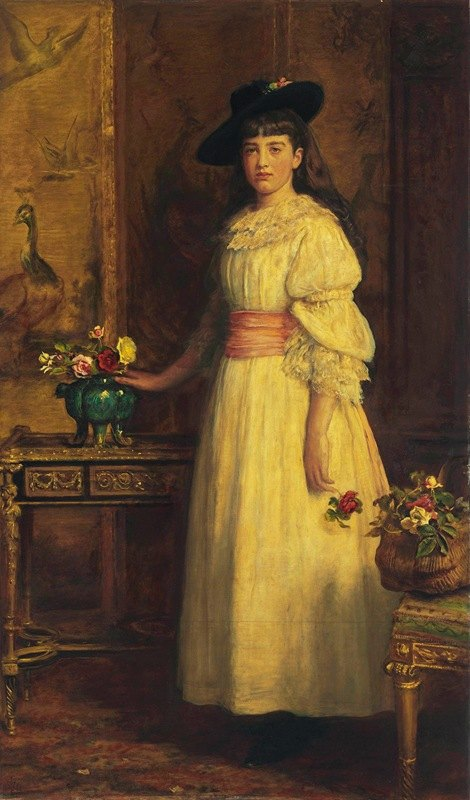 Sir John Everett Millais - Miss Gertrude Vanderbilt