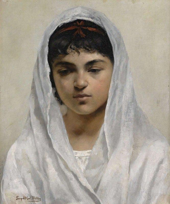 Leopold Carl Müller - Girl In White