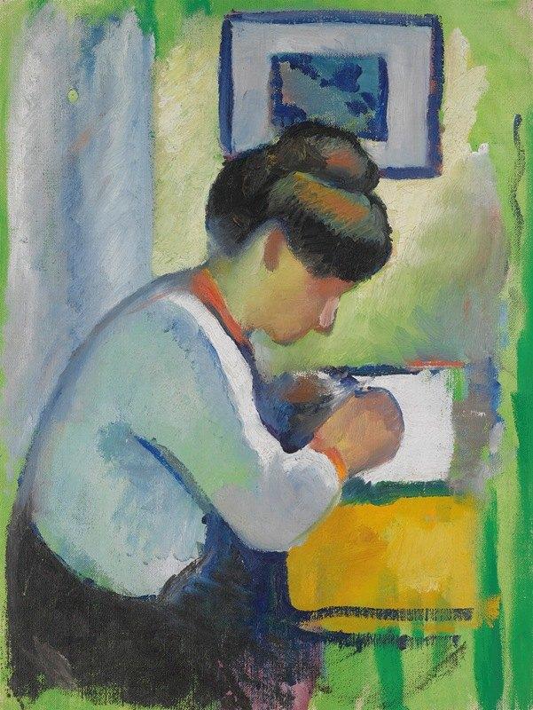 August Macke - Woman Writing