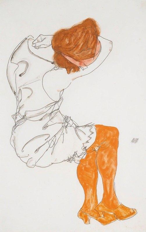 Egon Schiele - Das Schlafende Mädchen (The Sleeping Girl)