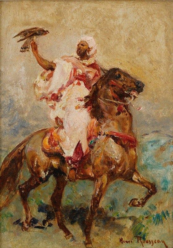 Henri Émilien Rousseau - North African On Horseback