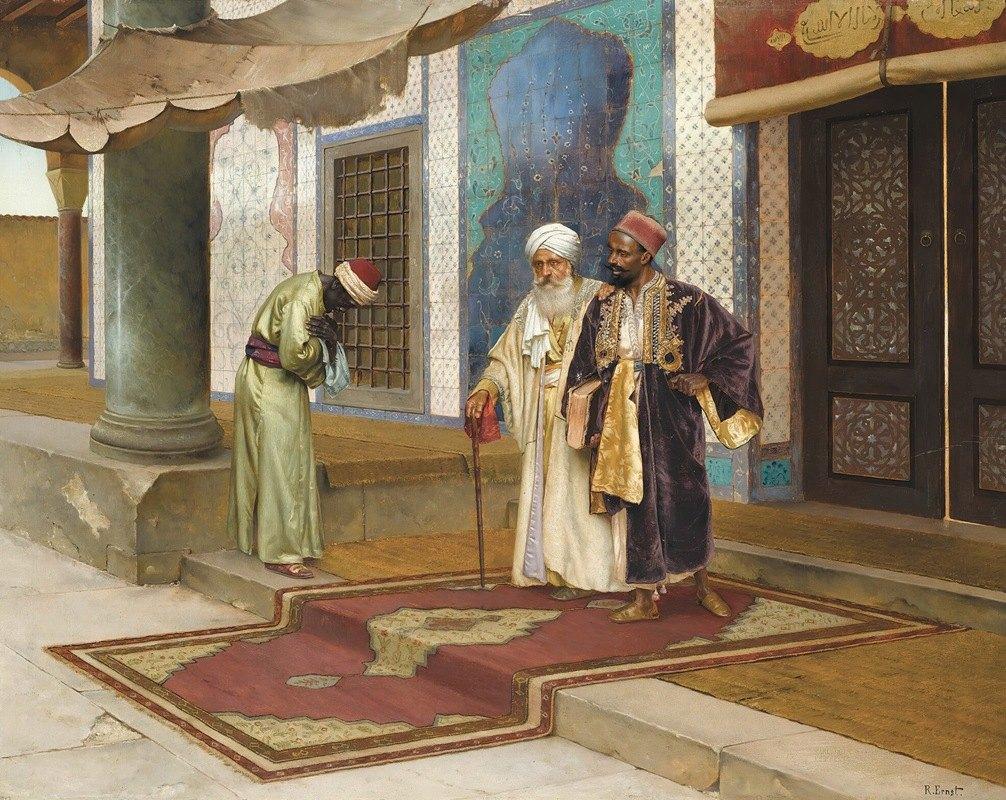 Rudolf Ernst - Leaving The Mosque