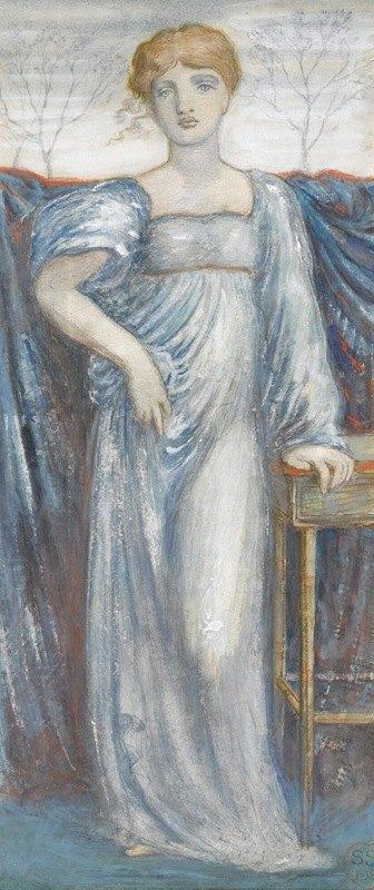 Simeon Solomon - A Woman In Blue