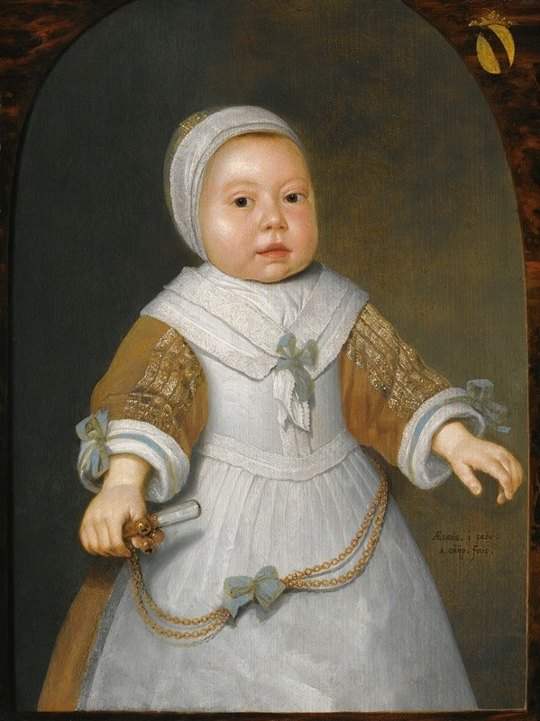 Aelbert Cuyp - Portrait Of A One-Year-Old Girl Of The Van Der Burch Family