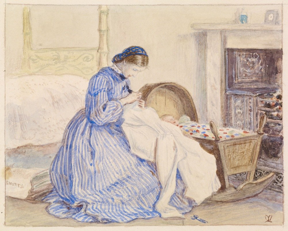Sir John Everett Millais - Stewart Harrison's The Iceberg – The Seamstress
