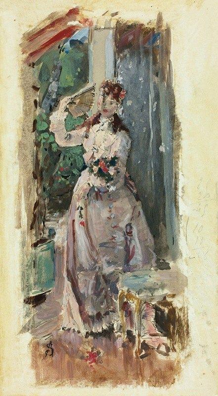 Alfred Stevens - The Corner of the Balcony