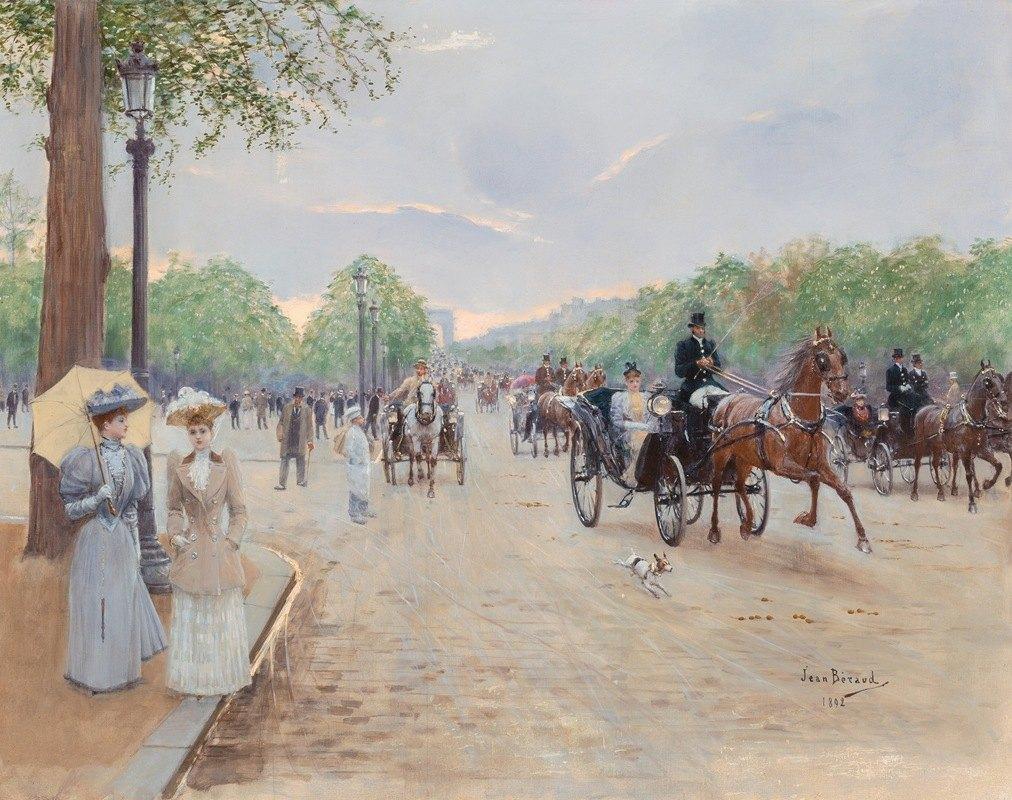 Jean Béraud - Sur les Champs Élysées