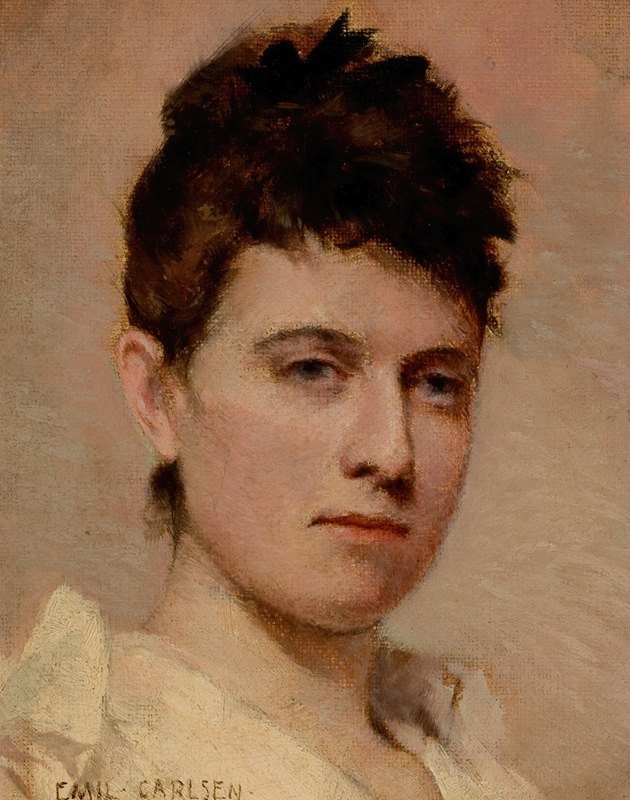 Emil Carlsen - Portrait of a Young Woman