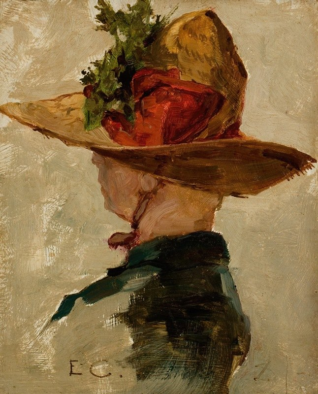 Emil Carlsen - Woman with a Hat