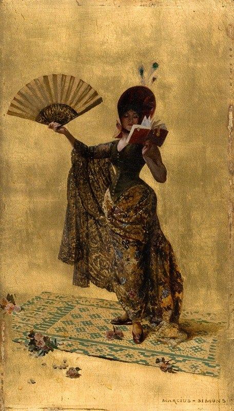 Pinckney Marcius-Simons - Woman with a Fan Reading