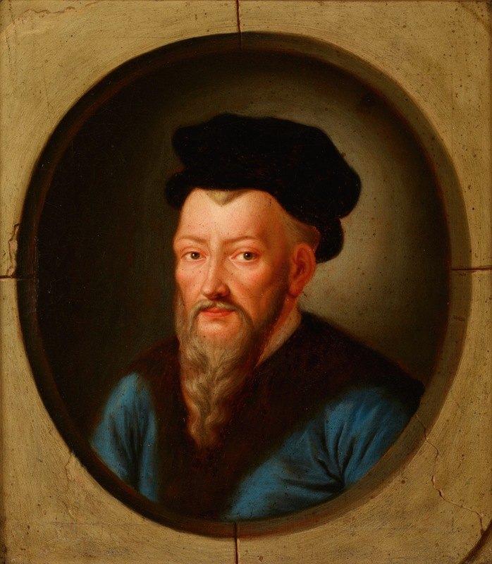 Friedrich Kloss - Portrait of Jan Herburt (ca. 1524–1577), Castellan of Sanok, Starost of Przemyśl, Secretary of King Sigismund Augustus