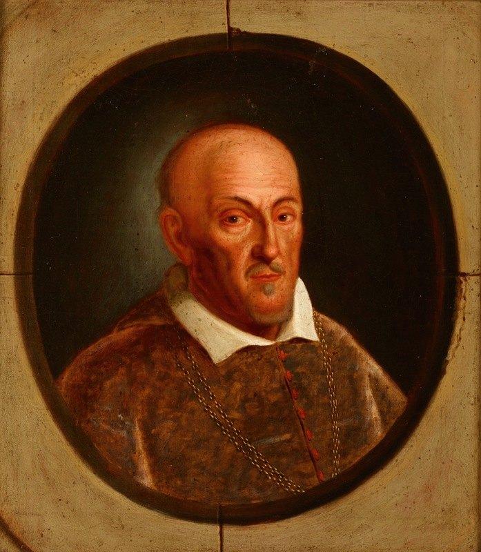 Friedrich Kloss - Portrait of Paweł Piasecki (1579 -1649) Janina Coat of Arts, Bishop of Kamyaniets and Przemyśl
