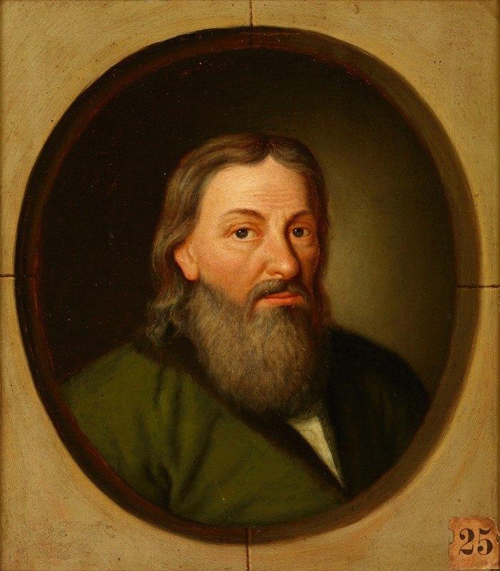 Friedrich Kloss - Portrait of Stanisław Orzechowski (1513-1566) Oksza Coat of Arms, Canon of Przemyśl, Religious and Political Writer