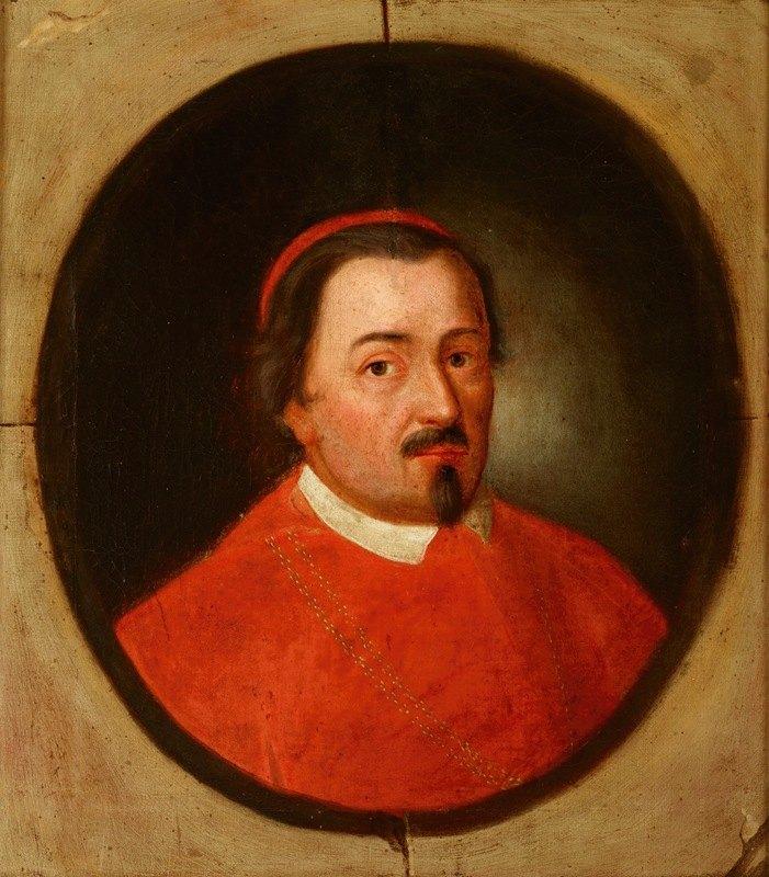Friedrich Kloss - Portrait of Zbigniew Oleśnicki (1389–1455) Dębno Coat of Arms, Bishop of Krakow, Cardinal, Primate