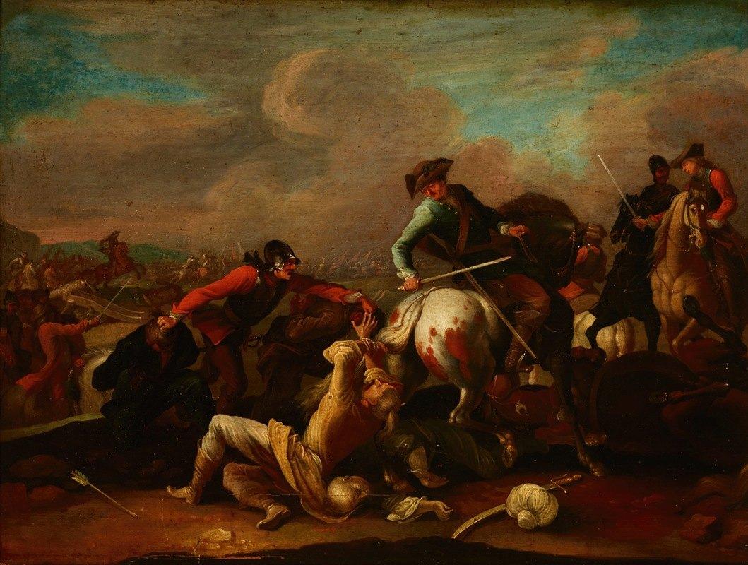 Ignaz Wenzel Prasch - Skirmish with the Turks