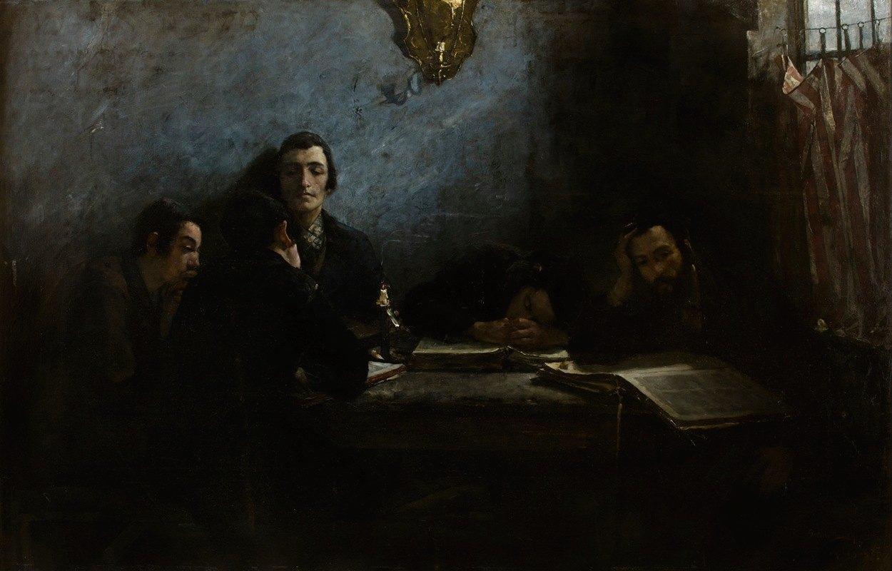 Samuel Hirszenberg - School of Talmudists