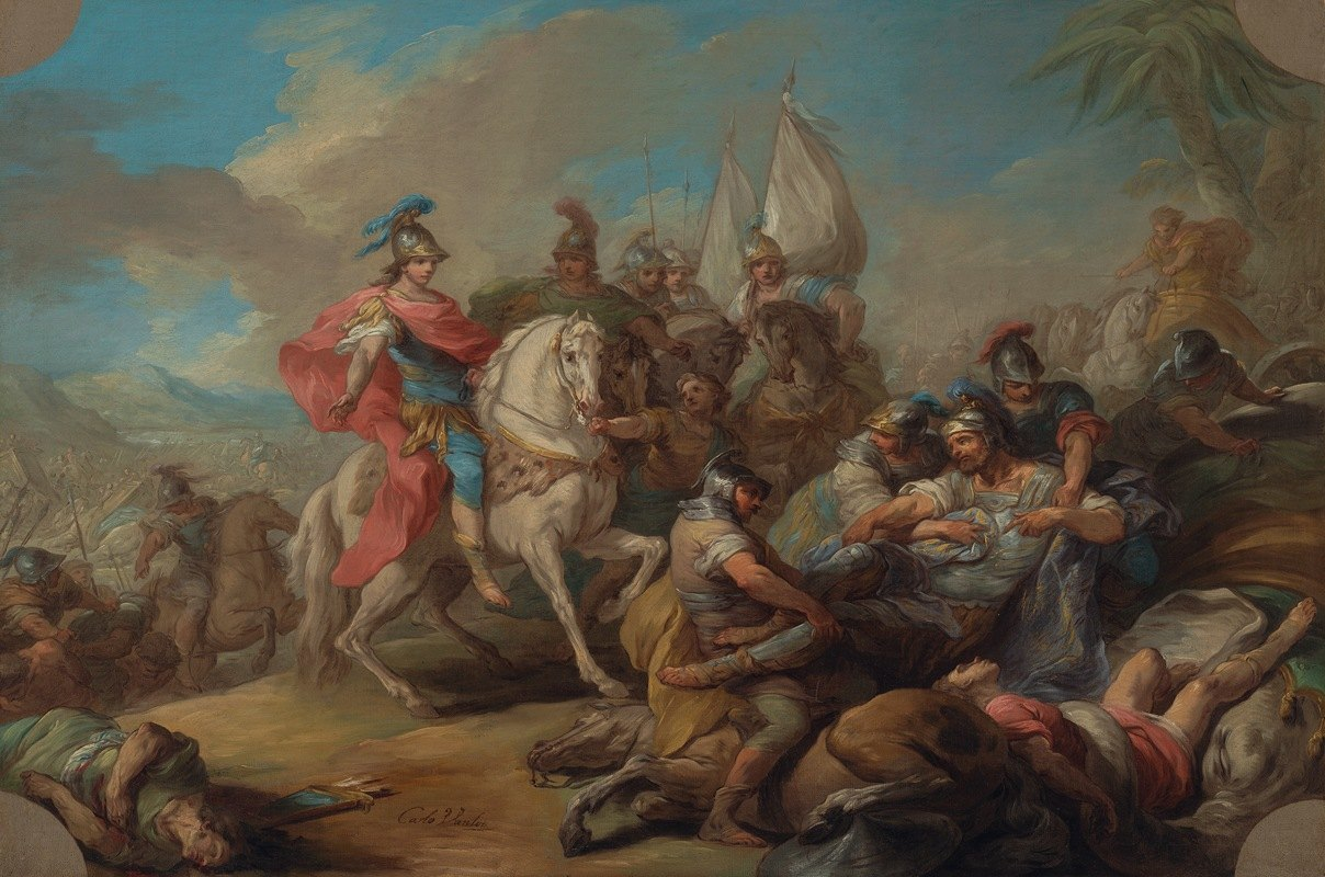 Charles-André van Loo - The Victory of Alexander over King Porus