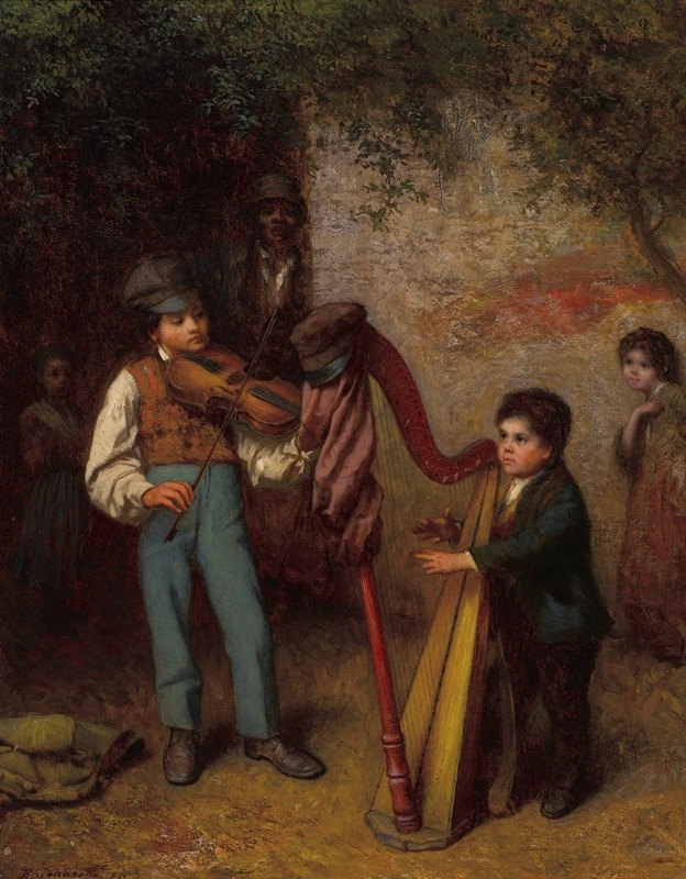 Eastman Johnson - The Young Musicians