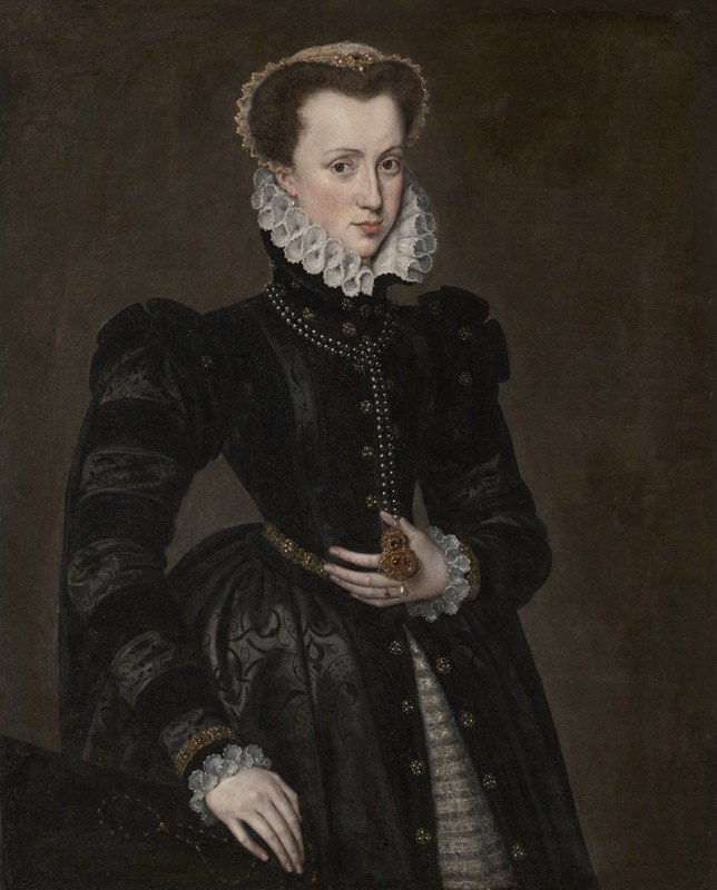 Follower of Antonis Mor - Portrait of a Court Lady