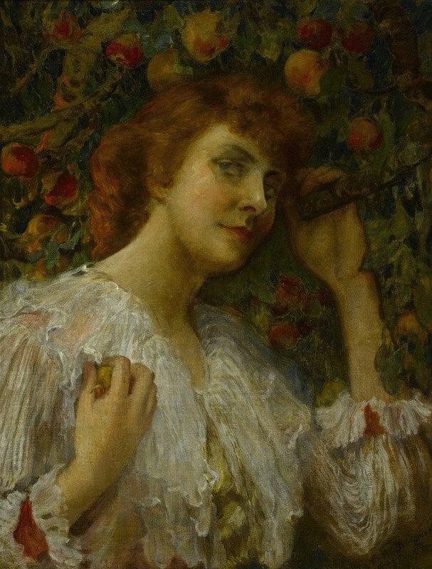Frederick Arthur Bridgman - Lady with Peaches