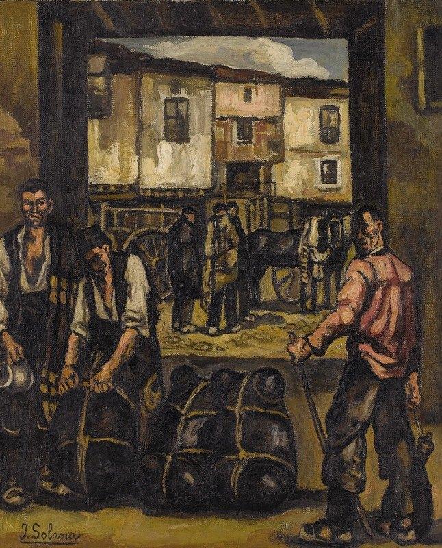 José Gutiérrez Solana - Los Trabajadores (The Wine Loaders)